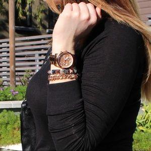 Silver Gunmetal & Copper Pyramid Stud Bracelet